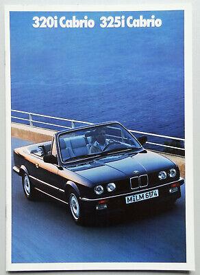 V12879 BMW SERIE 3 CABRIOLET (E30) 320i & 325i - CATALOGUE - 02/88 - A4 - NL