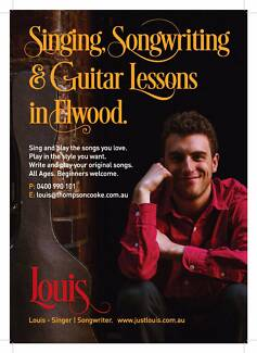 Singing/Guitar/Songwriting Lessons in Elwood (Melbourne)