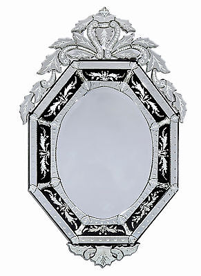 Natasha Black Venetian Wall Mirror