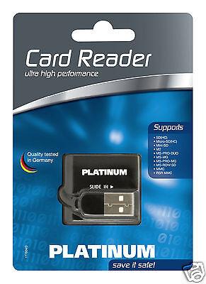 Platinum Multi Card Reader, Externer Speicherkartenleser USB 2.0 (Externer Usb Multi Card Reader)