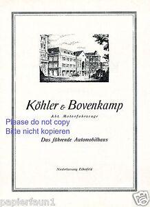 autohaus k hler bovenkamp elberfeld xl reklame von 1925 reklame ad ebay. Black Bedroom Furniture Sets. Home Design Ideas