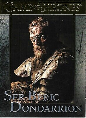 Game of Thrones Season 8 Ser Beric Gold Parallel Trading Card #45 (#135/175)