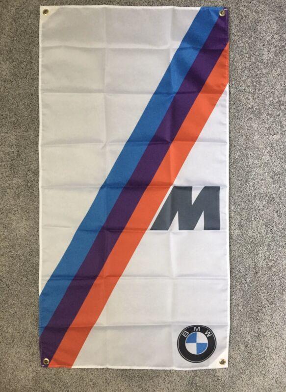Ultra High Quality White BMW M Flag / 4ft X 2 Ft M1 M3 M5 325ic E30 E36 Blue Red