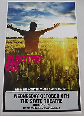 Electric Six * Original Concert Poster rare 2010 tour print * Zodiac