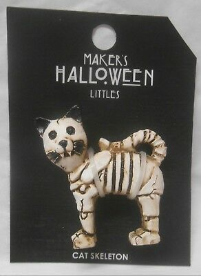 Jo-ann Marker's Halloween Littles Fairy Garden Cat Skeleton Miniature Halloween (Halloween Fairy Garden)