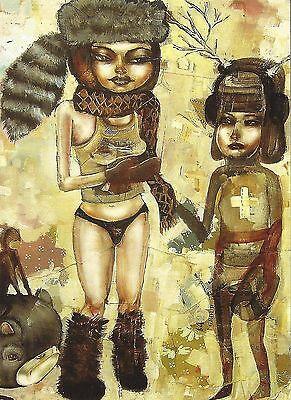 Postcard  David Choe Pull My Scarf 2005 Unused MINT