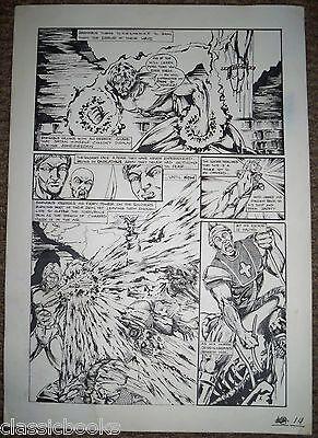 Barnabus Sins Of Honor #1   6 Page Original  Art
