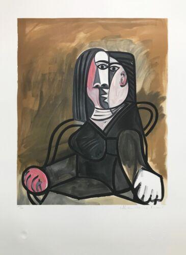 "Marina Pablo Picasso Estate ""femme Assise Dans Un Fateuil"" | Signed | Gallart"