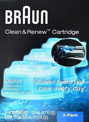 Braun Clean & Renew System Cartridges Refills CCR3 Series 3 5 7 9 Shaver, 3 -