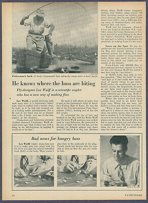 Lee Wulff Fishing Lures Fly Tying Bass Magazine Article June 1952 Hall of Fame