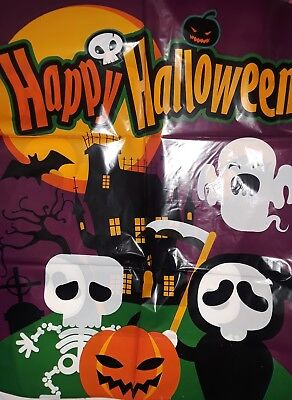 Halloween Extra Large Trick or Treat Candy Goody Plastic Party Bags NEW Set of 6 - Large Bags Of Halloween Candy