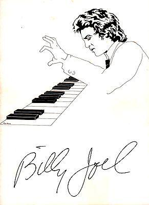 BILLY JOEL 1976 TURNSTILES TOUR CONCERT PROGRAM BOOK / WITH POSTER / EX 2 MNT