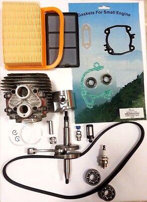 Cylinder Kit For Stihl Ts420 Crankshaft Overhaul Gasket Set Air Filter Bearings