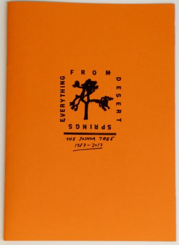 U2 Booklet Record Store Day European Variant Limited Edition #402/500 2017