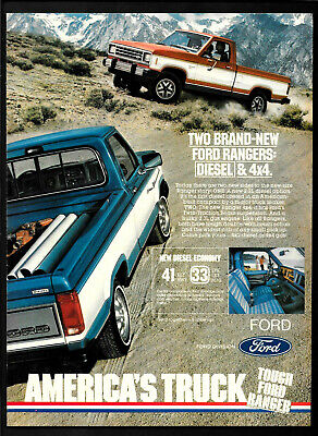 1983  FORD RANGER  Pick-Up Truck 4 x 4 & Diesel Full-Page Print Ad    8