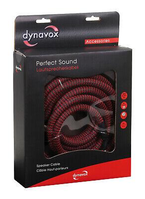 Dynavox Perfecto Sonido Cable de Altavoz 2x 5M Confeccionado 1 Stereo-Set