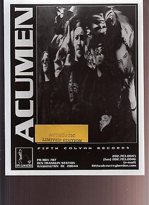 Acumen Limited Edition Press Kit