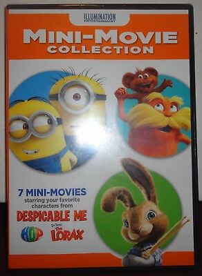NEW DVD -7 Mini Movie Collection -Characters from Despicable Me & The Lorax - Lorax Characters
