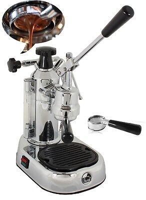 La Pavoni El Europiccola Chrome Espresso Cappuccino Machine Naked Portafilter