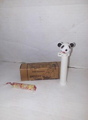 Vintage Totem Panda Non Pez Candy Dispenser Hong Kong W Candy   Box
