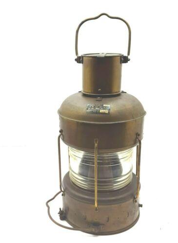 Nippon Sento Oil Antique Lantern Marine Nautical Brass Light Japan Since1977