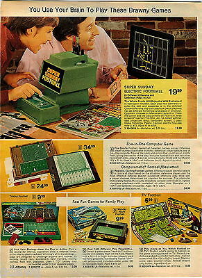 1974 Advert Super Sunday Football Electronic Electric Game Talking Monday Night