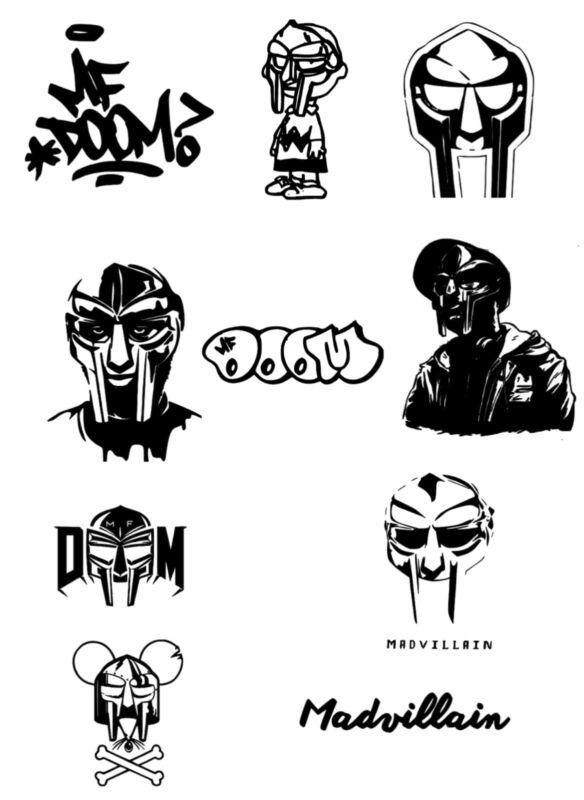 MF Doom vinyl decals sticker lot hip hop rap stickers