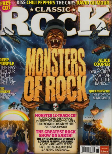 CLASSIC ROCK MAGAZINE June 2006 Issue 93 NM Cond With Free CD Deep Purple, Kiss