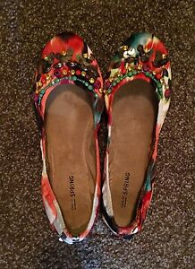 SIZE 7.5- LIKE NEW- unique colorful flats (ballerina flats)