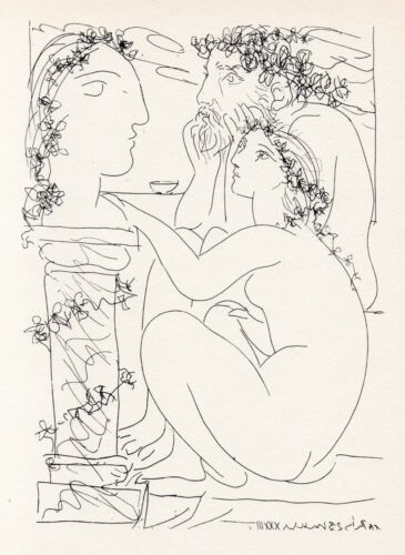 Pablo Picasso, Sculptor with His Model and His Sculpture, Vollard Suite
