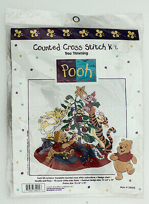 Disney Winnie The Pooh Counted Cross Stitch Kit Christmas Tree Trimming New Disney Counted Cross Stitch