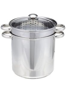 12 QT Stainless Steel 4 Pc Professional Multi-Cooker Pot