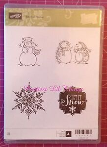 Stampin Up! Best Of Snow Clear Mount Stamp Set Snowflake Snowman Christmas NEW