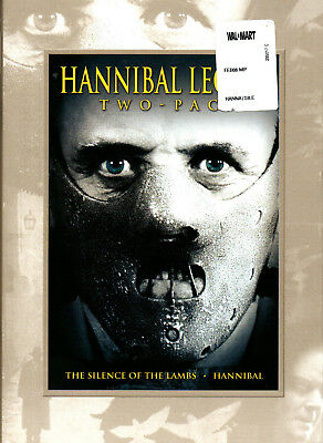 HANNIBAL LECTER TWO-PACK (DVD) BRAND NEW with slip case