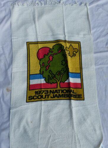Unused 1973 Boy Scout BSA National Jamboree White Beach Towel