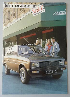 V18307 PEUGEOT 104 STYLE Z - DEPLIANT - 1984 - A4 - FR FR