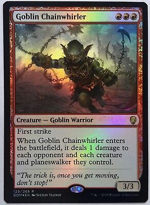 Goblin Warchief Near Mint Normal English Magic the Gathering MTG Dominaria Card