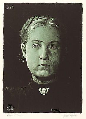 HANS THOMA - ELLA - Farbalgrafie 1897