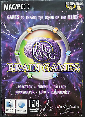 Big Bang Brain Games (Apple, 2007) (PC Compatible/Windows XP) NEW