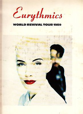 Eurythmics World Revival Tour 1989 Vintage Program Annie Lennox David A. Stewart