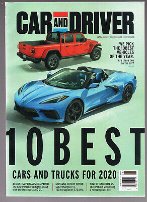 CAR & DRIVER January 2020 10 Best Cars and Trucks of the Year Porsche Mustang