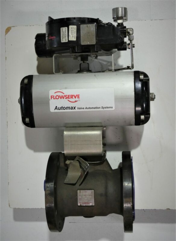 """Flowserve B125S07 Control Valve with AUTOMAX Ultraswitch, 4"""" Ball Valve, Flan..."""
