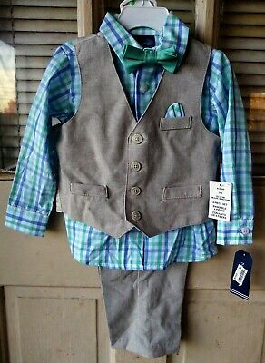Nautica 4pc Easter Suit Toddler Boy's size 24M Retail Value $50 NWT!