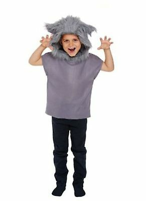 Children's Red Riding Hood Big Bad Wolf Book Day Halloween Costume Age 4-12 - Children's Wolf Halloween Costume