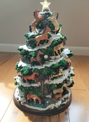 Danbury Mint Horse Christmas Tree Lighted Figurine