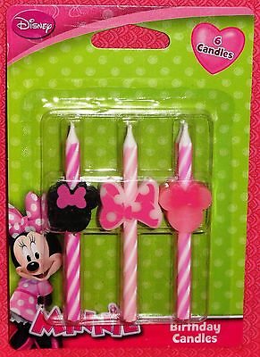 Minnie Mouse Icon Candles,Birthday,Disney,DecoPac,Multi-Color,Cake Decoration - Minnie Mouse Cake Decoration
