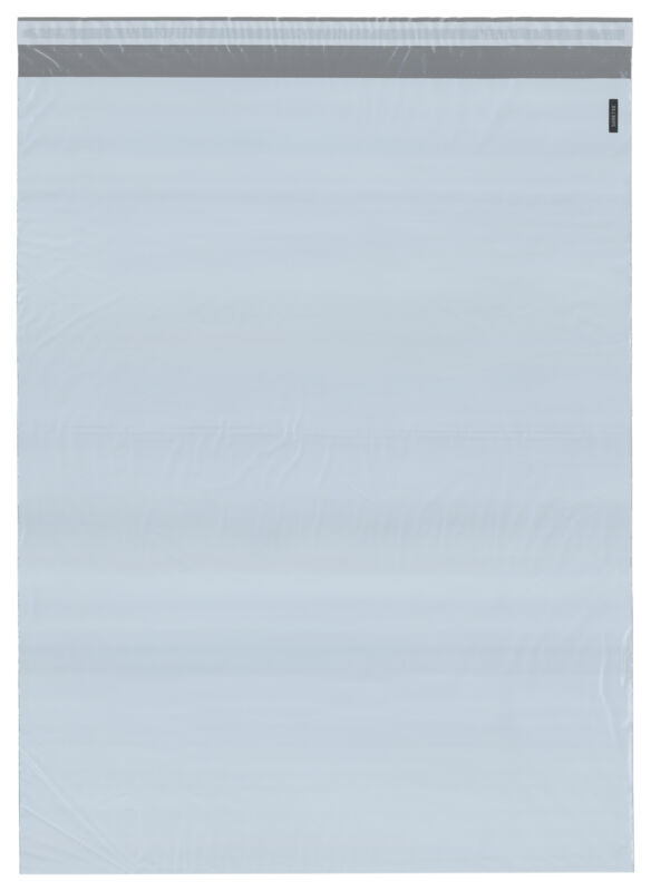 "Plymor Poly Mailer White/Gray Bag w/ Closure & Strip, 18.75"" x 24"" (Pack of 125)"