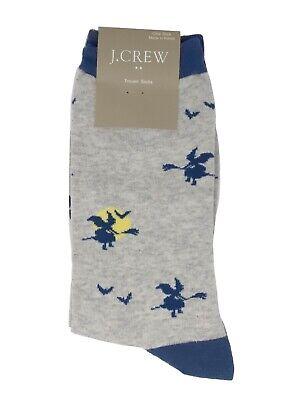 J.Crew Factory Women's - Halloween Witch Flying on Broom Full Moon Trouser Socks