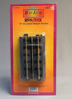 MTH REALTRAX 10 INCH INSULATED STRAIGHT TRACK SECTION o gauge train 40-1029 NEW