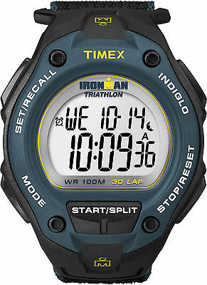 Timex T5K413, Men's Ironman Fast-Wrap Watch, Indiglo, Alarm, 30-Lap, Chronograph